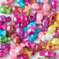 50PCS Random Acrylic Candy Beads AB-Colour Opaque Colourful Xmas Spacers 24mm