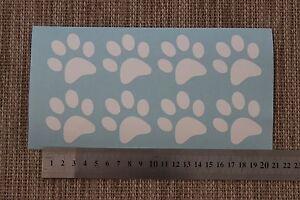 8 Small (4.47cm x 4.79cm) Paw Prints Vinyl Decal Sticker Ipad Laptop Tablet Car