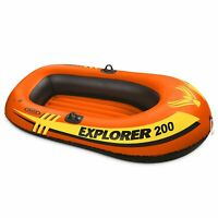 Intex Explorer Pro 200 2 Person Youth Inflatable PVC Boat Raft (Raft Only)