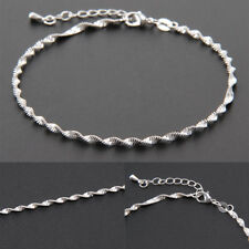 Women Ankle Bracelet Sterling Silver Anklet Foot Jewelry Chain Beach Charming