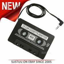 Car Radio Cassette Tape Adapter│3.5 mm Jack Plug│For iPod-MP3 & CD Players│Black
