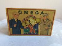 "VINTAGE RARE ADVERTISING SOUVENIR CARDBOARD BOX CASE FOR POCKET WATCH ""OMEGA"" №1"