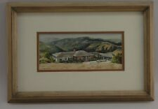 NR! Vintage MC Watercolor Painting by William Timmins (1915-1985) CA IL Signed