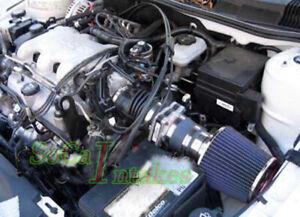 Blue Air Intake Kit For 1999-2005 Pontiac Grand AM 3.4L V6 GT  GT1 SE1 SE2