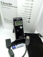 Sony ICD-UX60 Digital Voice Recorder MP3 Dictaphone Dictation Machine USB BLACK