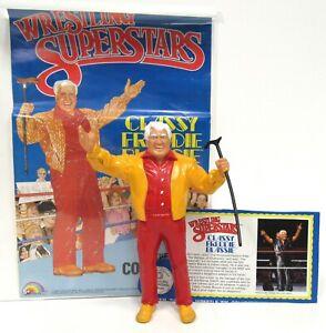 LJN Titan Sports WWF Wrestling Superstars Freddie Blassie Bio Card Poster 1986