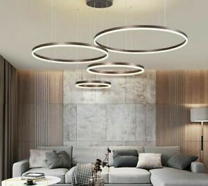 LED Pendant Light Modern Brushed Cricle Acrylic Led Ceiling Pendant Hanging Lamp