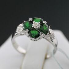 Reinheit SI Runde Echte Diamanten-Ringe im Solitär mit Akzentsetzung-Stil