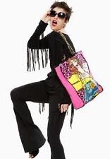 Betsey Johnson RARE Dress Black Fringe Long Sleeve Punk Tunic Cotton Top S 2 4 6