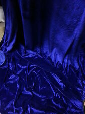 "27 "")ROYAL BLUE VELOUR VELVET  FABRIC 58""WIDE"