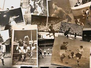Original 8x6 Press Photos -  Vintage Football Match Action - *Choose from List*