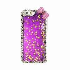 Reiko 3D Handmade Crystal Diamond Flip Cover for iPhone 6 Purple
