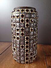 Baldosas mosaico durante años 70 sueco Tarro de cristal Florero West German Cerámica Tramp Folk Art