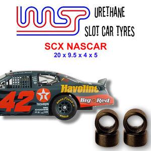 WASP 18 - Urethane Slot Car Tyres x 4 - SCX NASCAR