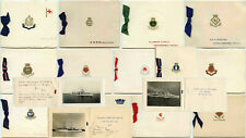 More details for naval ships christmas cards with photos named vessels 1930-40's...priced singly