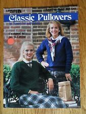 Classic Pullovers Leisure Arts 640 Sport Weight Yarn 1988 Joy Levine