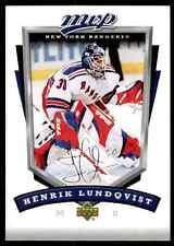 2006-07 Upper Deck MVP Henrik Lundqvist #196
