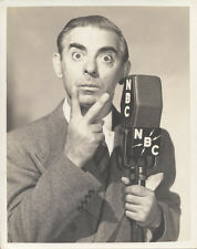 PORTRAIT OF RADIO COMEDIAN EDDIE CANTOR W/ NBC MICROPHONE - REPRINT