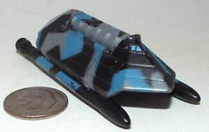 Small Micro Machine Plastic US Navy Sea Shadow Stealth Catamaran Blue/Black/Gray