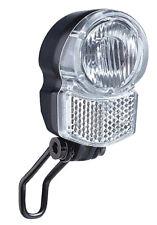 LED Fahrradlampe 25 LUX Scheinwerfer Nabendynamo Schalter Beleuchtung Büchel Neu