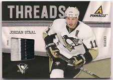 Jordan Staal 11-12 Panini Pinnacle Threads Prime Game Worn Jersey Patch /50