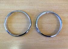 MG Midget Chrome Headlamp Rims (pair) (500929) (1275 & 1098 cars)