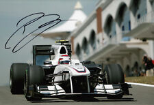 Kamui Kobayashi Hand Signed Sauber F1 Photo 12x8 7.