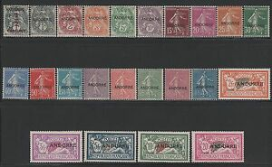 "FRENCH ANDORRA YVERT 1 / 23 "" COMPLETE SET 23 VALUES 1931 "" MNH VF P187E"