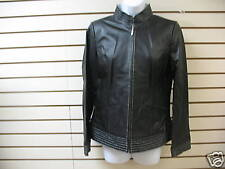 BRADLEY BAYOU -- BLACK  LEATHER JACKET -- XS -- NEW WITH TAGS