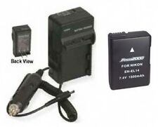 EN-EL14 Battery + Charger for Nikon Coolpix D3100 D3200 D5100 D5200 P7000 P7100