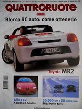 Quattroruote 535 2000 Al volante Opel Agila. Alfa 147. Toyota MR2. Punto  [Q.63]