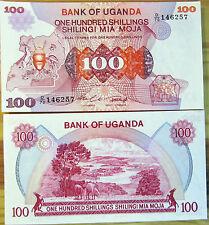 "BILLETE ""   UGANDA  "" 100 SHILLINGS   AÑ0 1982   UNC  PLANCHA"