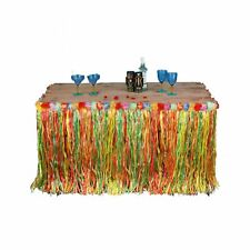 Hawaiian Table Skirt Grass Multi Colour Tropical Garden Beach Summer Party Decor