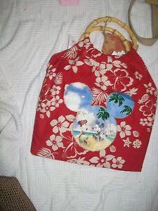 DISNEY Mickey and Minnie RED Tote/Bag HTF