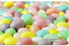 WalMart Easter Jelly Beans Pastels Purple Pink Blue 2013 Gift Card FD-33872