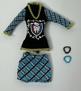 Monster High Frankie Stein Ghoul Spirit Replacement Outfit SHIRT SKIRT BRACELETS