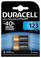 4 x Piles (x 2 Original blister ) Duracell Cr123 3v Lithium Photo Jusqu'à 2024