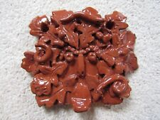Hand made ceramic individual wall plaque inspired by Green Man new by H Eccles