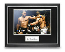 Jon Jones Signed 16x12 Framed Photo Display UFC MMA Autograph Memorabilia + COA