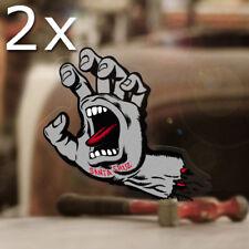 2x Stück Santa Cruz Original Screaming Hand Sticker old school Skate silber 70mm