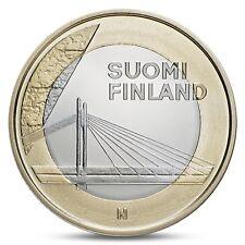 FINLAND FINNLAND 5 EURO PROVINCIAL BUILDINGS LAPLAND CANDLE BRIDGE 2012 UNC