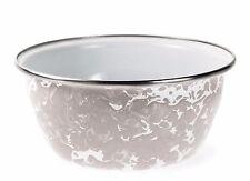 Golden Rabbit Taupe Swirl Enamelware Salad Bowl Soup Bowl Cereal Bowl
