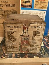Early Nyoil Whale Oil Glass Bottle Hunting Fishing Scene Shipping-Counter Box