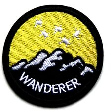 Wanderer Outdoors Patch Camping Mountains Traveller Mountaineer Iron Sew On