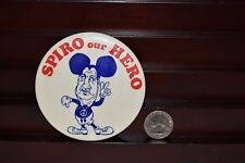 Vintage 1968 Spiro Our Hero Ant-Nixon Political Pinback Attach Button Mouse Ears
