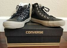 5e26e866b21f CONVERSE Chuck Taylor All Star Unisex Wm s 7 Men s 5 BOOT Hi top LEATHER  Black