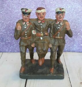 Elastolin Germany WW1 Toy Soldier Composition Figure Medics Carrying Wounded