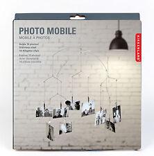 Photo Mobile, Foto-Mobile für 10 Fotos, beweglicher Sammel-Bilderrahmen, Stahl