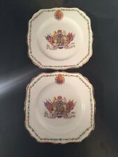 King George V Queen Mary Silver Jubilee Plates 1910 1936 J & G Meakin CWS Longto