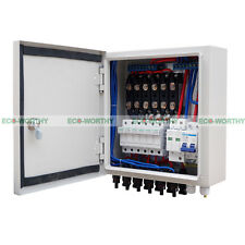 6 String 60A Solar Combiner Box 10A Circuit Breaker & Lighting Surge Protection